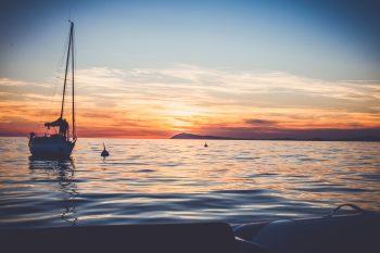 Sortie en mer coucher de soleil