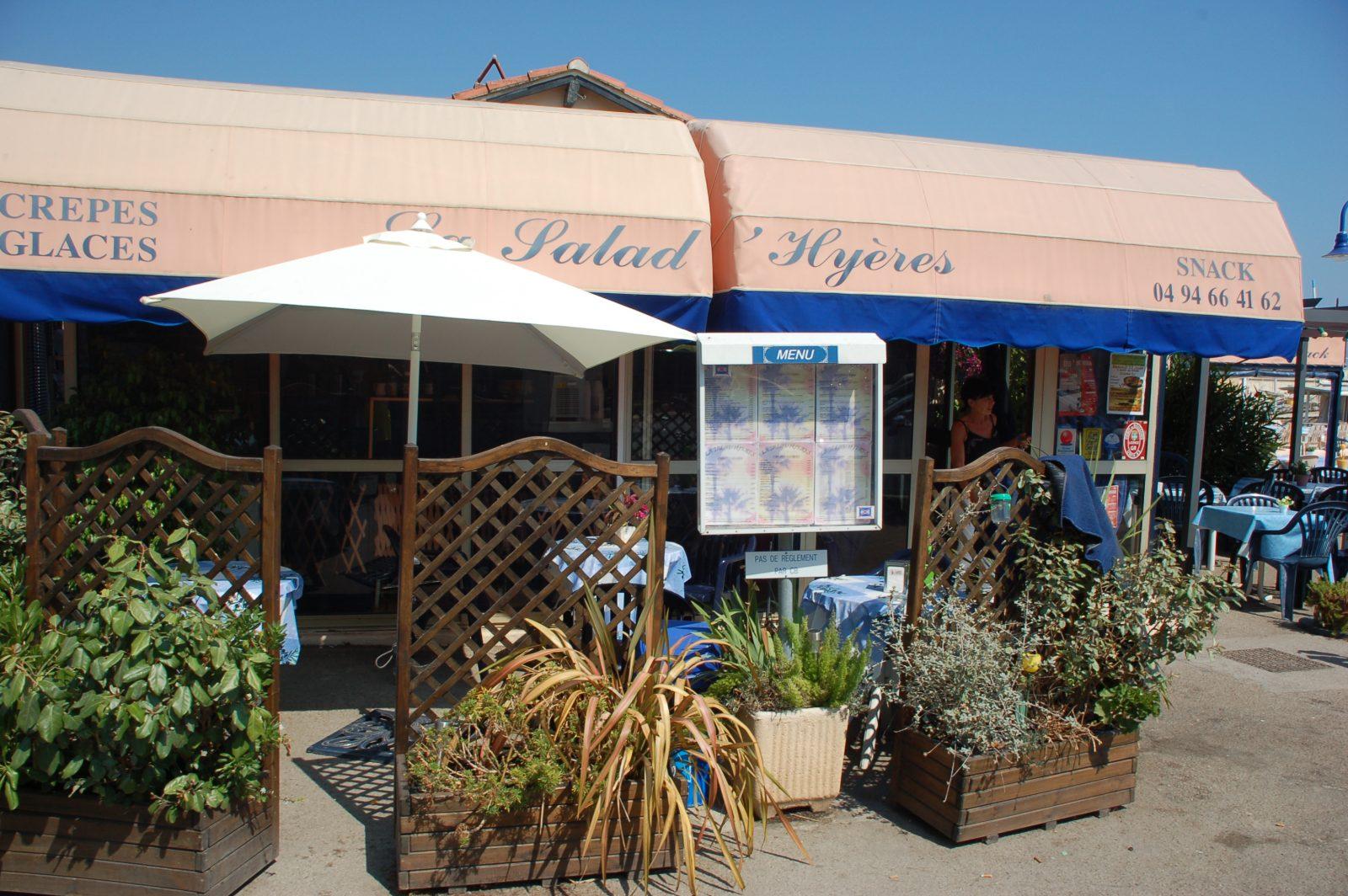 restaurant hyeres salins port mer salad'hyères