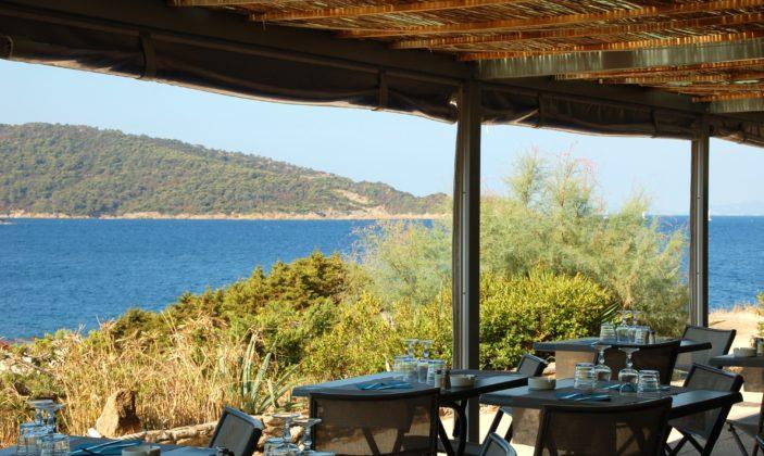 Le Gambarro, restaurant sur l'île