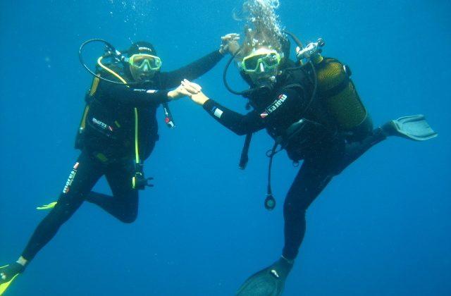 Plongée baptême exploration sous-marine île Porquerolles Parc national