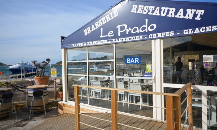 restaurant bar le prado a la tour fondue giens embarcadere de porquerolles