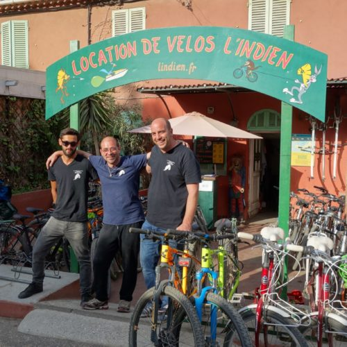 l'indien location de vtt et vélo électriques sur l'ile de porquerolles