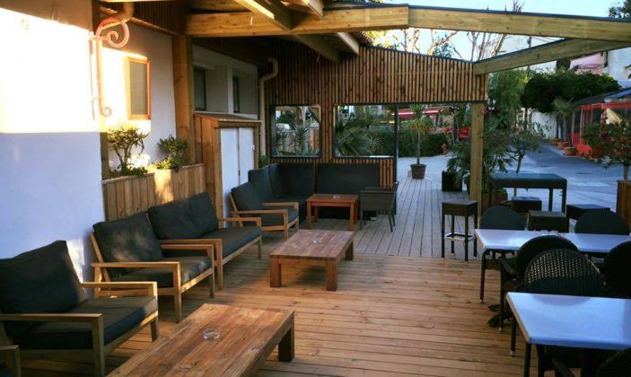 restaurant, brasserie, vue mer, île de Porquerolles, Parc National