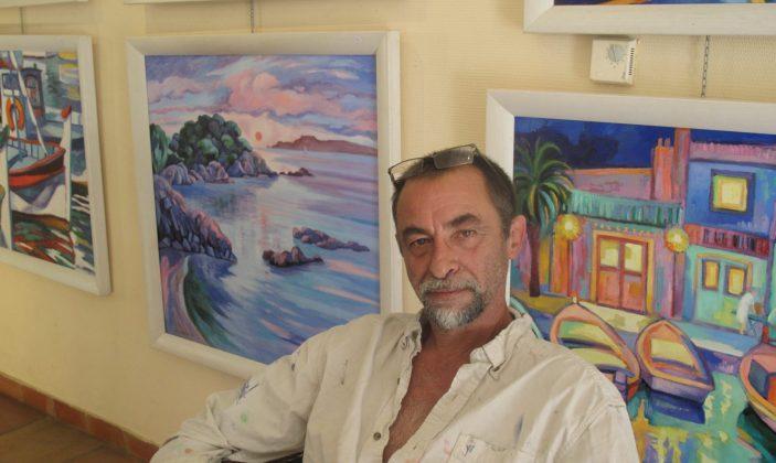Exposition peinture salle mairie île de Porquerolles Parc National