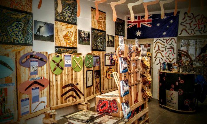 la partie musée du boomerang