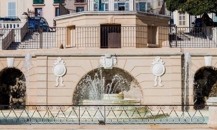 Fontaine du square Stalingrad à Hyeres