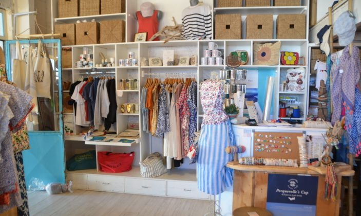 Lou Souléou de Porquerolles boutique prêt à porter accessoires souvenirs île de porquerolles parc national
