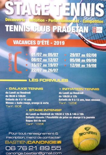 Stage Tennis  2019