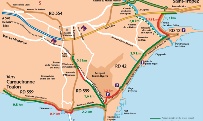 Plan vélo Hyères
