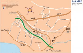 plan vélo La Garde