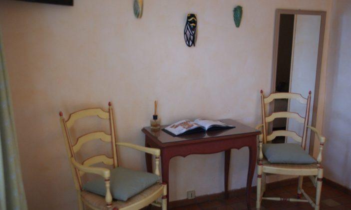 détail d'une chambre