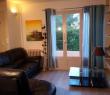 Salon avec canapé cuir / Living room with leather sofa