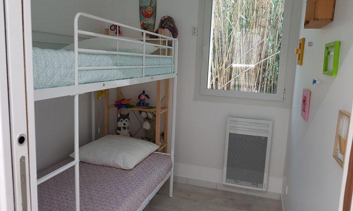Chambre lits 90 Rez-de-Jardin T4 – La Bastide de Charlotte – H192