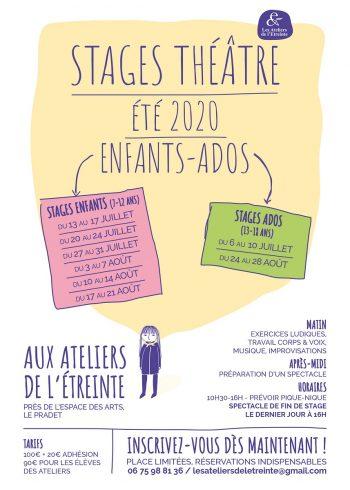 Stages de théâtre enfants / ados