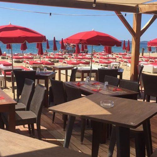 Restaurant plage des vahinés Les Salins Hyères
