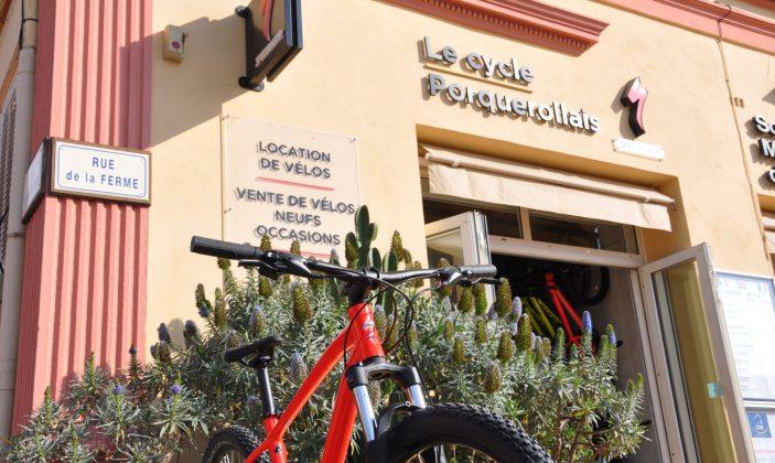 Location de vélos Porquerolles Le Cycle Porquerolais