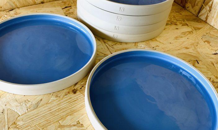 Assiettes de service Bleu Aeur