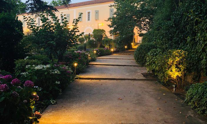 Jardin crépuscule