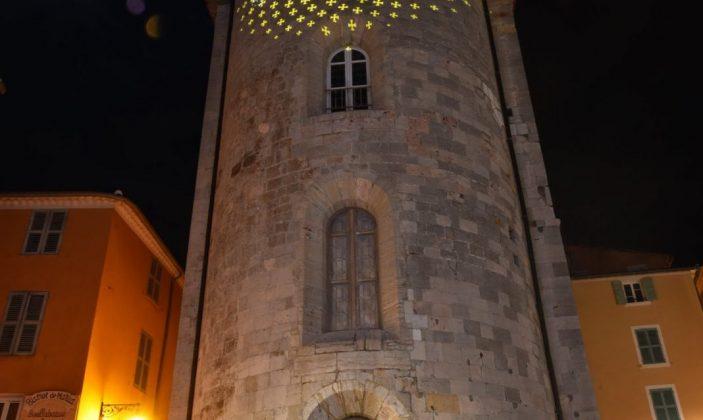 Projections d'images lumineuses – Tour des Templiers
